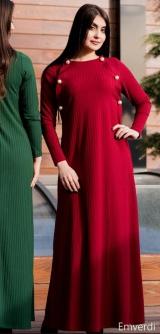 Платье лапша с жемчугом бордо