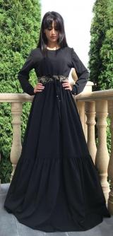 Платье мальта черное