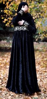 Платье велюр синее