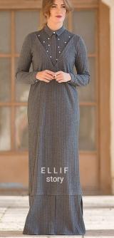 Платье лапша с жемчугом