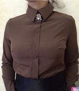 Блузка софт коричневая
