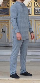 Мужской костюм лен 2