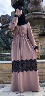 Платье абайное на кулиске