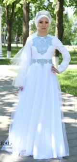 Платье Лаванда белая